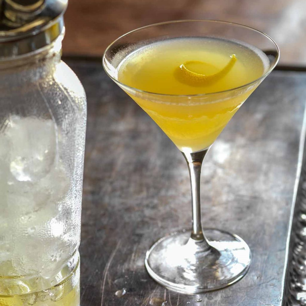 A modern twist on the Bees Knees Gin Cocktail