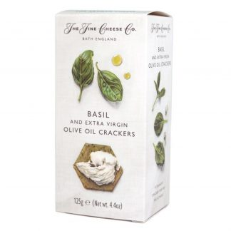 The Fine Cheese Co. Basil and Extra Virgin Olive Oil Crackers, 125g