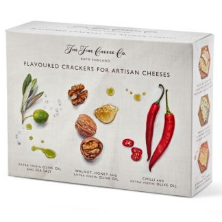 The Fine Cheese Co. Flavoured Crackers for Artisan Cheeses Selection Box